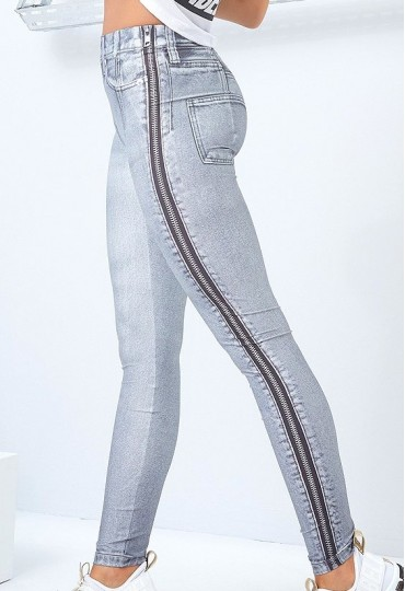 Calça Legging Jeans Laser Cut