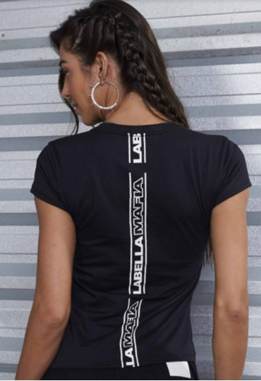 Blusa Black Reflective Top Sellers Labellamafia