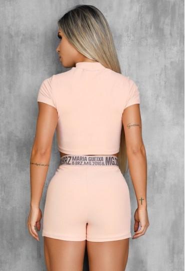 Conjunto Blusa e Shorts Bolso Matalasse