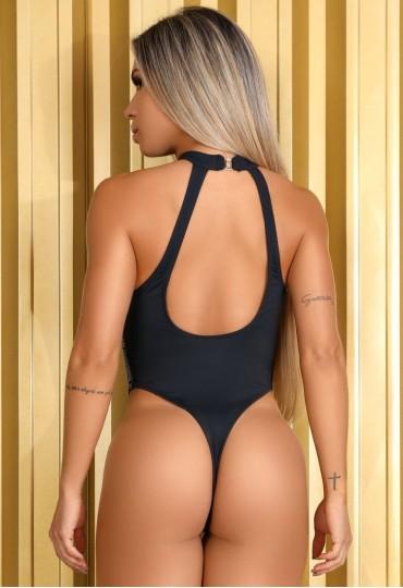 Body Maiô Gola Alta Logo Maria Gueixa