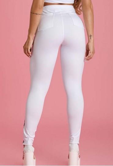 Calça American Sports Branca Maria Gueixa