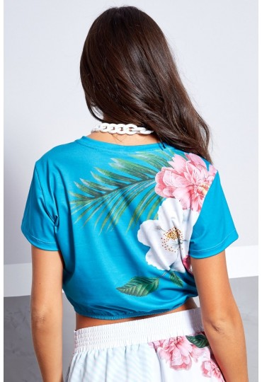 Blusa Cropped Blue