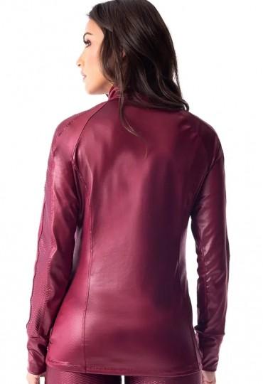 Jaqueta Leather Bordô