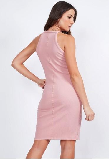 Vestido Canelado Colcci Rosê