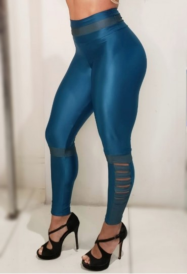 Legging Stripe Perna - Verde Escuro