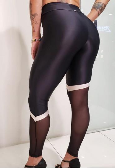Legging Sport Chic Assimétrica Preta
