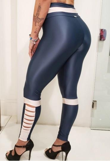 Legging Stripe Petróleo