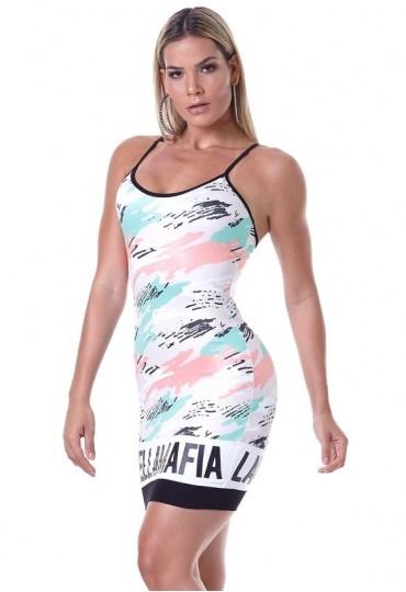Vestido Labellamafia Mint Camo