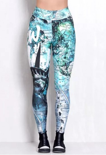 Legging Elastic Statue of Liberty