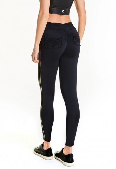Legging Fusô Empina Bumbum Fact Golden Preto