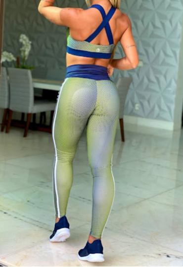 Legging Empina Bumbum Poa Neon