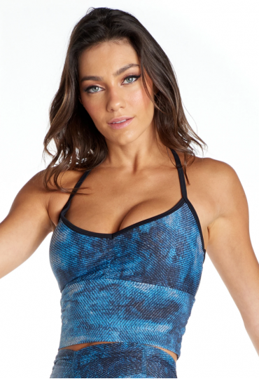 Top Blackout Once Azul Jeans