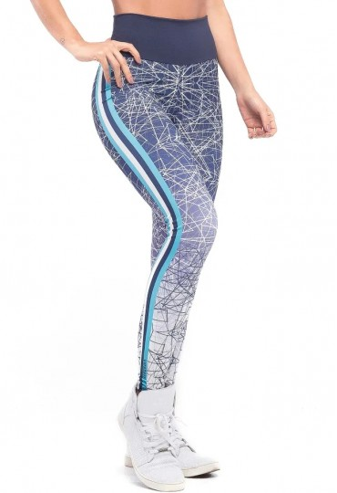 Legging Geometric Blue