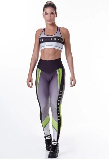Conjunto Green fitness Labellamafia